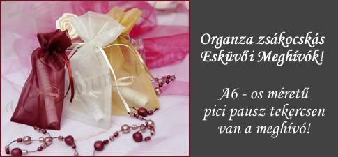 Organza zsákocskás meghívók