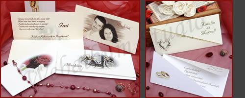 Francia hajtogatott esküvői meghívók